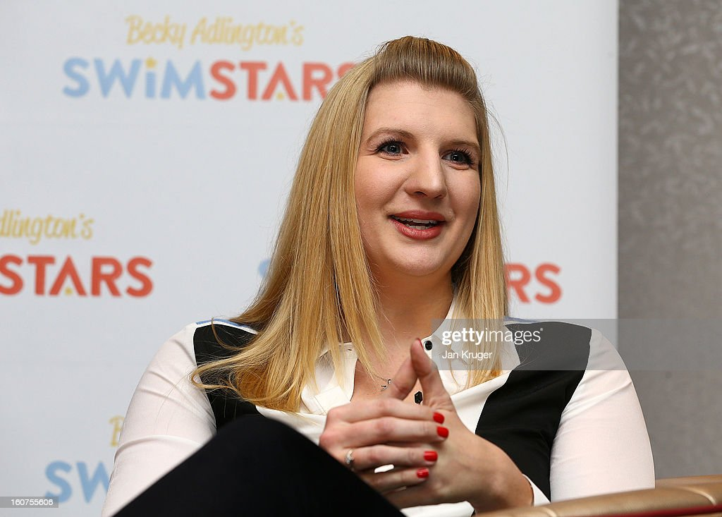 Rebecca Adlington answers questions from the media during a press conference as she announces her retirement from swimming, at InterContinental London Westminster Hotel on February 5, 2013 in London, England.