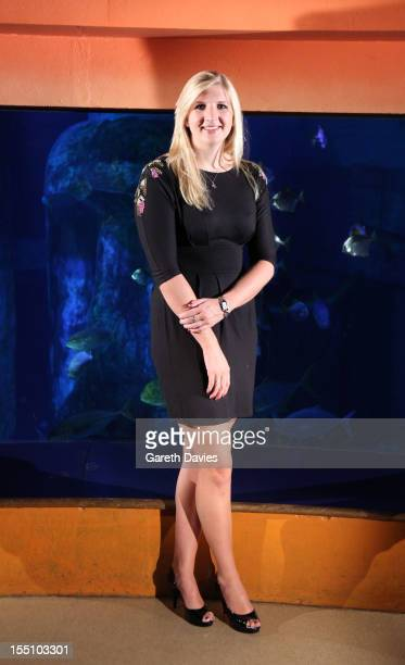Rebecca Adlington attends a photocall to launch Speedo 'S Factor' competition at London Aquarium on November 1 2012 in London England