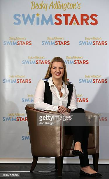 Rebecca Adlington attends a press conference to announce her retirement from competitive swimming and the launch of her charitable foundation to...