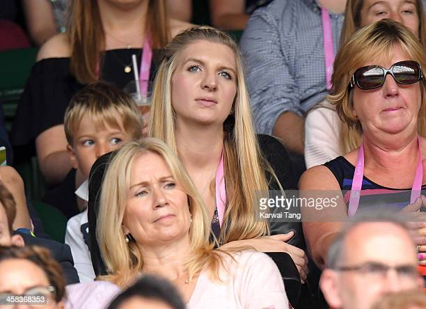 Rebecca Adlington attends day six of the Wimbledon Tennis Championships at Wimbledon on July 02, 2016 in London, England.