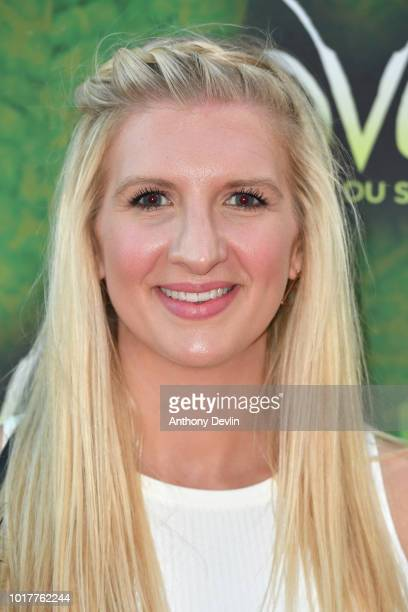Rebecca Adlington attends the Cirque Du Soleil's OVO Premiere at The Liverpool Echo Arena on August 16 2018 in Liverpool England