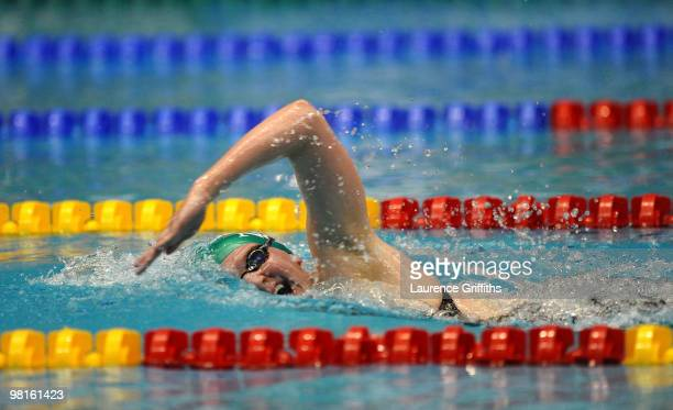 Rebecca Adlington of Nova Centurion competes in the Womens Open 800m Freestyle during the British Swimming Championships at Ponds Forge on March 31,...