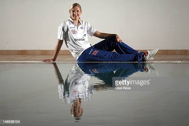 Rebecca Adlington of the British Gas Great Britain swim team poses for pictures and talks to the media during a photo call on June 13 2011 in...