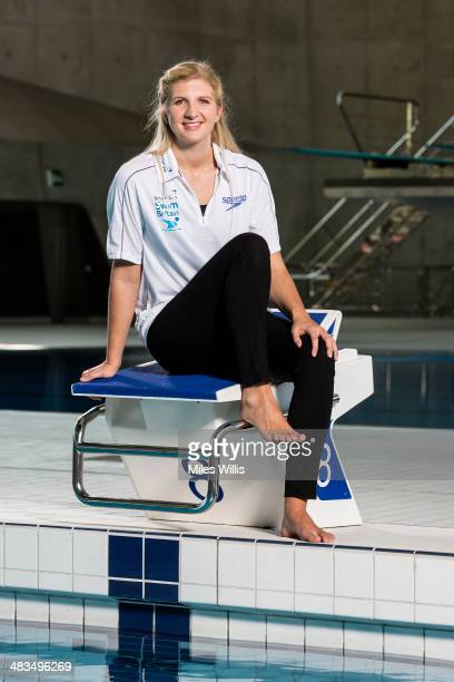 Rebecca Adlington poses for a picture during the launch of the British Gas SwimBritain event at the London Aquatic Centre on April 9 2014 SwimBritain...