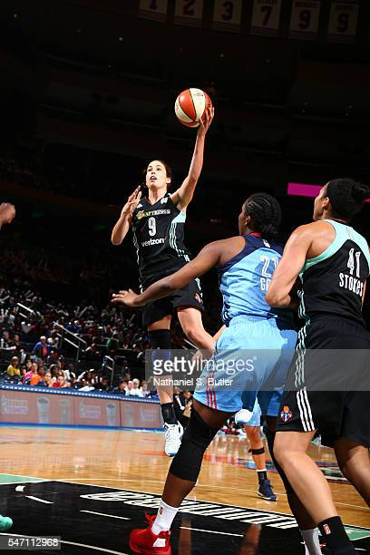 Rebecca Allen of the New York Liberty goes for a lay up against the Atlanta Dream on July 13 2016 at Madison Square Garden in New York New York NOTE...