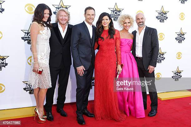 Rebecca Arthur recording artists Phillip Sweet Jimi Westbrook Karen Fairchild and Kimberly Schlapman of music group Little Big Town and Stephen...