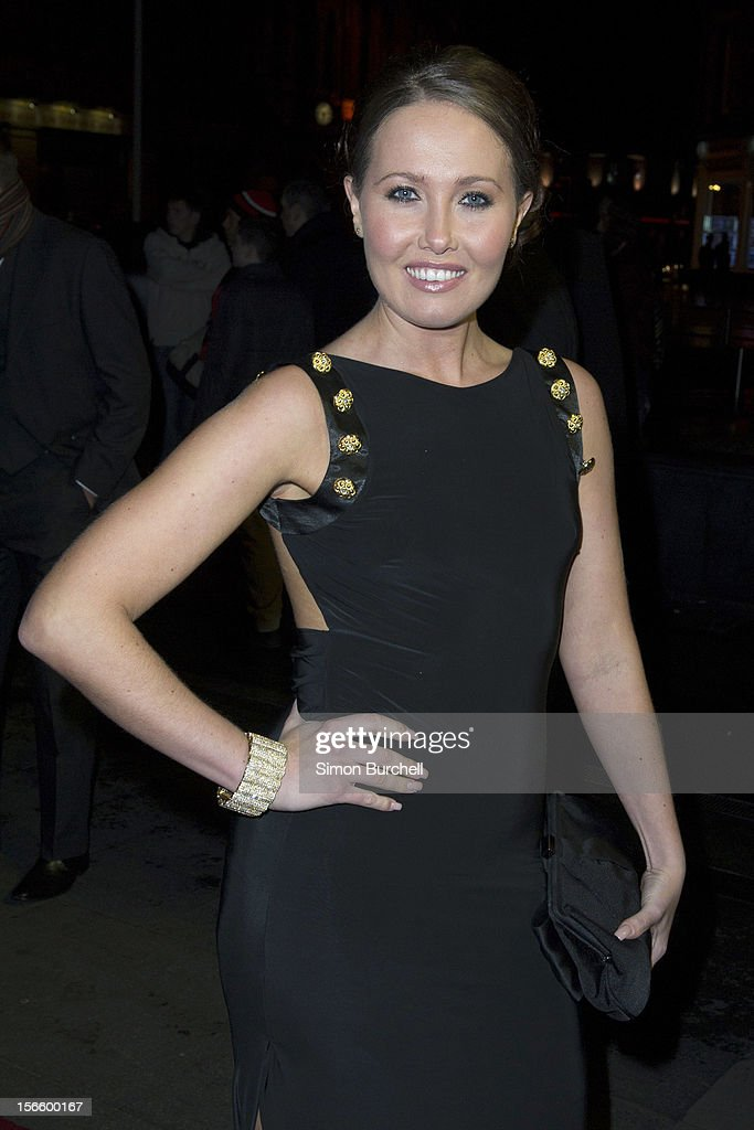 Rebecca Atkinson attends the RTS North West Awards held at the Hilton Hotel in Deansgate on November 17, 2012 in Manchester, England.
