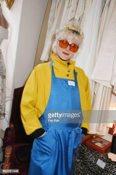 Rebecca Baby attends Zelia Van Den Bulke Aprons show At Zelia Abbesses Shop on May 1, 2018 in Paris, France.