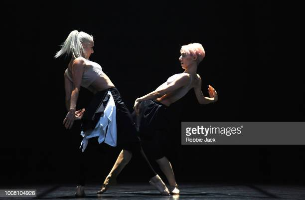 Rebecca BassettGraham and Daniela Neugebauer in Wayne McGregor's Autobiography at Sadler's Wells Theatre on July 26 2018 in London England
