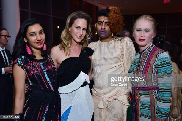 Rebecca Bengal Zachary Drucker Alok VaidMenon and Meredith Taluson attend the Aperture Gala 'Elements of Style' at IAC Building on October 30 2017 in...