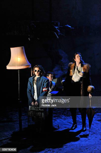 Rebecca Benson as the girl Catherine Walsh as Beatriz and Zac McCullough as the boy in the National Theatre of Scotland's production of Zinnie...