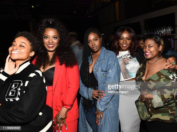 Rebecca 'Bex' Francois Alysha Pamphile Scottie Beam Gia Peppers and Sapphira Martin attend House Of BET An Immersive Experience on February 02 2019...