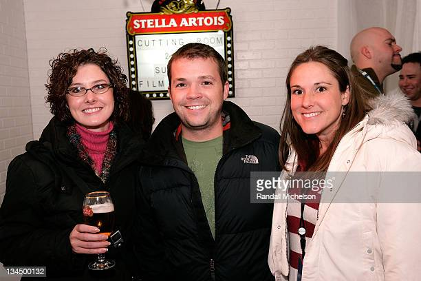 Rebecca Bibble Jeremy Marci and Jenna Thompson at the Stella Artois Cutting room during 2008 Sundance Film Festival at the Sundance House on January...