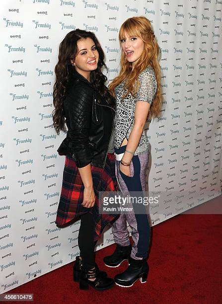 Rebecca Black and Bella Thorne attend DigiFest LA The Largest YouTube Music Festival at Hollywood Palladium on December 14 2013 in Hollywood...