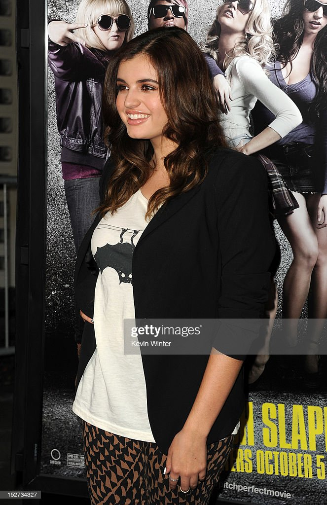 Rebecca Black arrives at the premiere of Universal Pictures And Gold Circle Films' 'Pitch Perfect' at ArcLight Cinemas on September 24, 2012 in Hollywood, California.