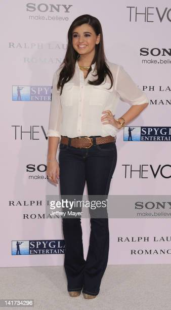 """Rebecca Black arrives at """"The Vow"""" Los Angeles Premiere at Grauman's Chinese Theatre on February 6, 2012 in Hollywood, California."""