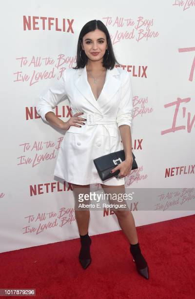 Rebecca Black attends a screening of Netflix's 'To All The Boys I've Loved Before' at Arclight Cinemas Culver City on August 16 2018 in Culver City...