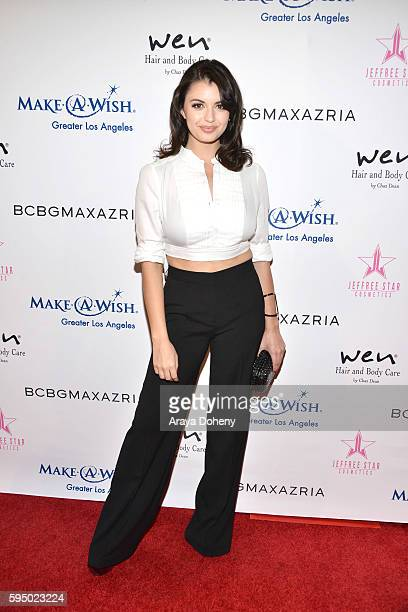 Rebecca Black attends the Inaugural Fashion Show Benefiting MakeAWish with BCBGMAXAZRIA and Celebrity Host Brad Goreski at The Taglyan Complex on...
