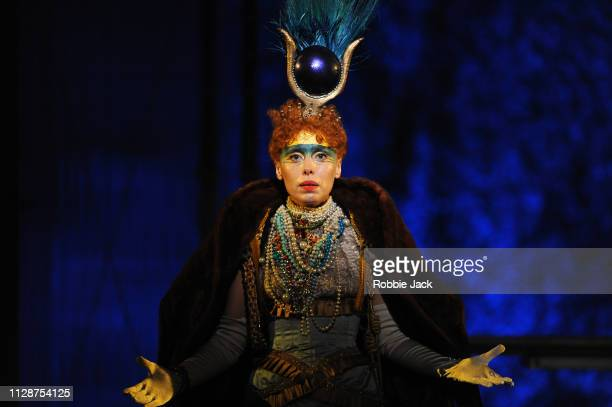 Rebecca Bottone as Queen Tye in English National Opera's production of Philip Glass's Akhnaten directed by Phelim McDermott at London Coliseum on...