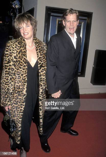 Rebecca Broussard and Actor Al Corley attend the 'Drowning Mona' Westwood Premiere on February 28 2000 at Mann Bruin Theatre in Westwood California