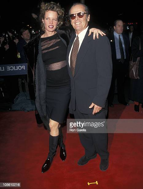 Rebecca Broussard and Jack Nicholson during As Good As It Gets New York City Premiere at Loews Twin Theater in New York City New York United States