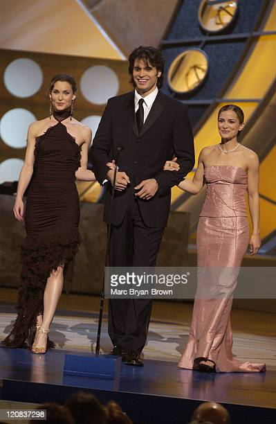 Rebecca Budig Alicia Minshew Max Alexander during 30th Annual Daytime Emmy Awards Show at Radio City Music Hall in New York NY United States