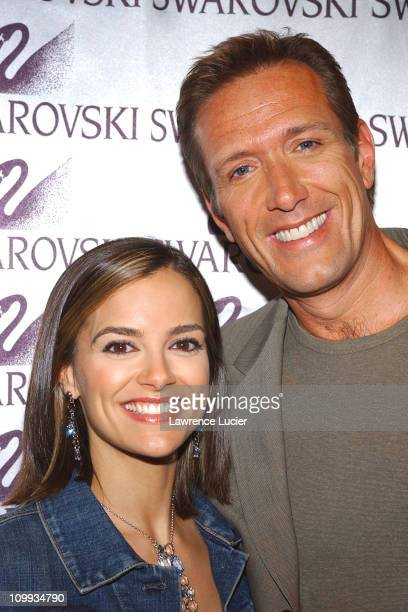 Rebecca Budig and Walt Wiley during All My Children Stars Appear at Celebrity Heartthrobs Crystallize Denim Program Launch To Benefit The American...