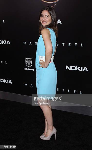 Rebecca Buller attends the Man Of Steel World Premiere at Alice Tully Hall at Lincoln Center on June 10 2013 in New York City