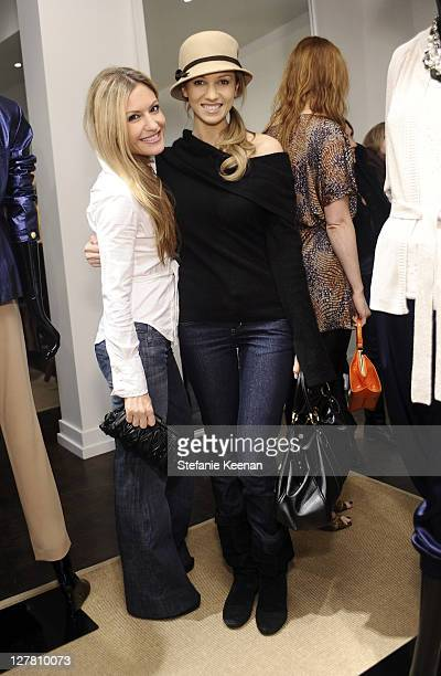 Rebecca Cardon and Marnette Patterson attend [Concept] St John Art Of Elysium Event on March 23 2011 in West Hollywood California