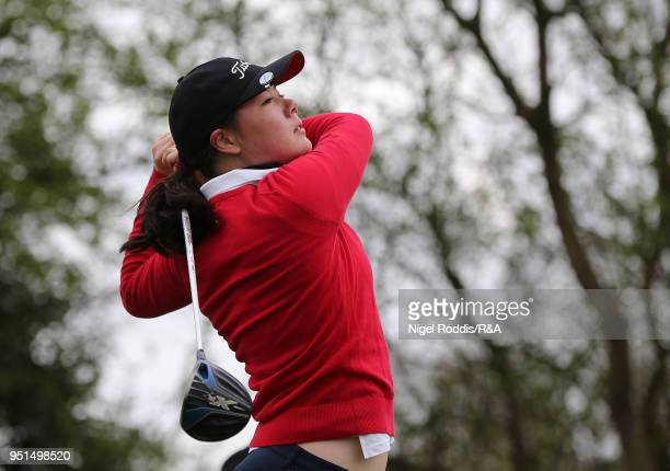 Rebecca Coch during practice for the Girls' U16 Open Championship at Fulford Golf Club on April 26 2018 in York England