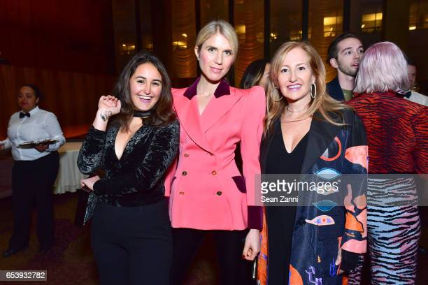 Rebecca Cohen MariaTheresia Pongracz and Glori Cohen attend Art Production Fund's Bright Lights Big City Gala at Seagram Building on March 13 2017 in...
