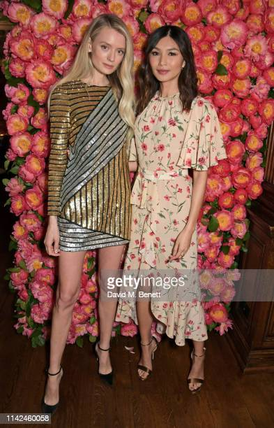 Rebecca Corbin Murray and Gemma Chan attend a private dinner hosted by Michael Kors to celebrate the new Collection Bond St Flagship Townhouse...