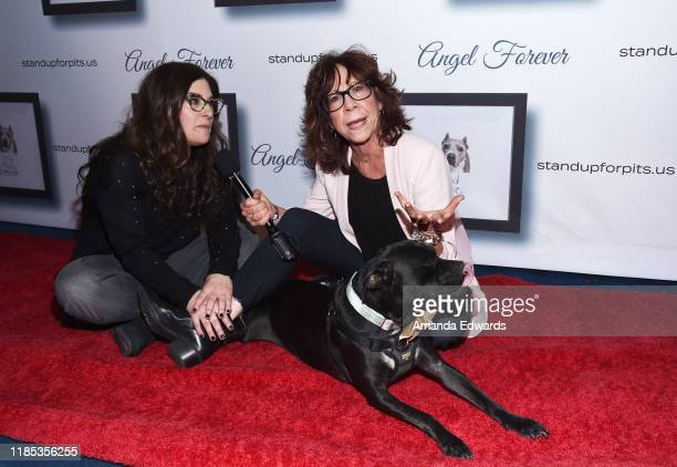 Rebecca Corry and Mindy Sterling arrive with Sally and Todd the Pitbulls at the 9th Annual Stand Up For Pits event hosted by Kaley Cuoco at The Mayan...