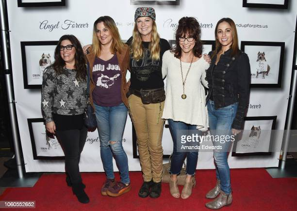 Rebecca Corry, Dana Min Goodman, Mo Collins, Mindy Sterling and Julia Lea Wolov arrive at the 8th Annual Stand Up For Pits at the Hollywood Improv...