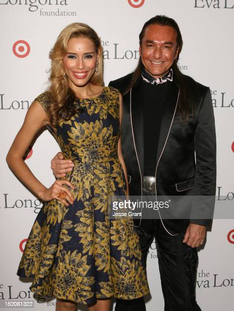 Rebecca Da Costa and Nick Chavez arrive at The Eva Longoria Foundation's PreALMA Awards Dinner at Beso on September 15 2012 in Hollywood California