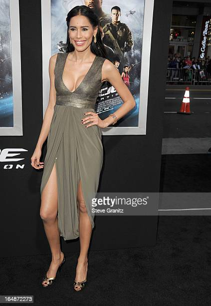Rebecca Da Costa arrives at the GI Joe Retaliation Los Angeles Premiere at TCL Chinese Theatre on March 28 2013 in Hollywood California