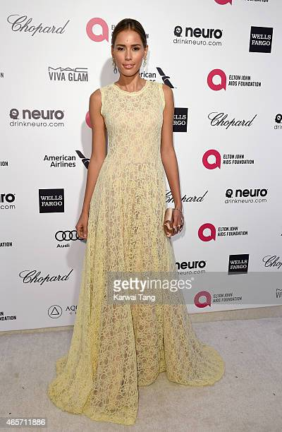 Rebecca Da Costa attends the Elton John AIDS Foundation's 23rd annual Academy Awards Viewing Party at The City of West Hollywood Park on February 22...