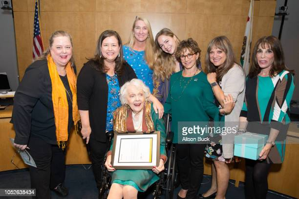 Rebecca Damon Gabrielle Carteris Jane Austin and Barbara Perry attend the Presentation Of Founders And Presidents Awards at SAGAFTRA Plaza on October...