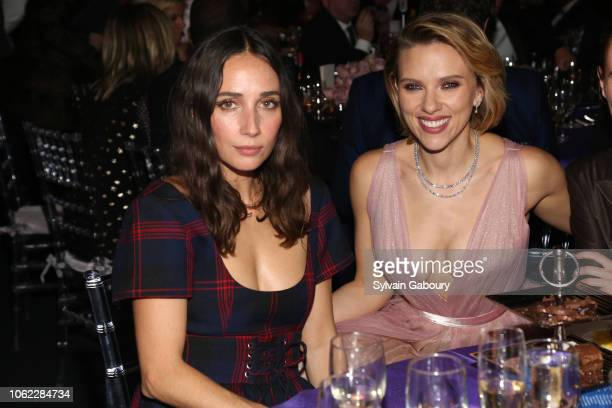 Rebecca Dayan and Scarlett Johansson attend American Museum Of Natural History's 2018 Museum Gala at American Museum of Natural History on November...