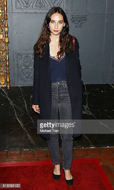 Rebecca Dayan arrives at the Los Angeles premiere of Knight Of Cups held at The Theatre at Ace Hotel on March 1 2016 in Los Angeles California