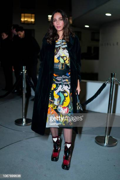 Rebecca Dayan attends the 2018 Guggenheim International Gala preparty in the Upper East Side on November 14 2018 in New York City