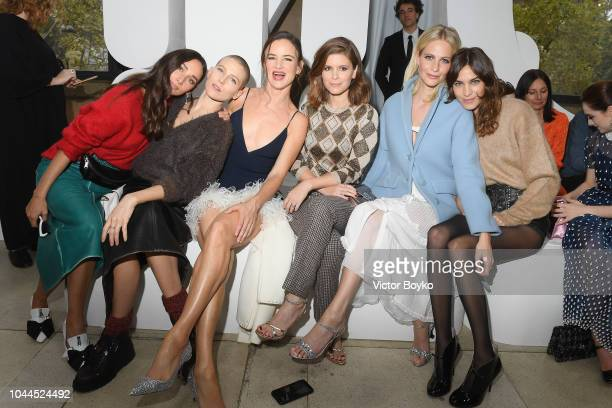 Rebecca Dayan Dree Hemingway Juliette Lewis Kate Mara Poppy delevingne and Alexa Chung attend the Miu Miu show as part of the Paris Fashion Week...