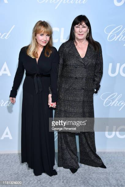 Rebecca De Mornay and Anjelica Huston arrives at the 2019 Hollywood For Science Gala at Private Residence on February 21 2019 in Los Angeles...
