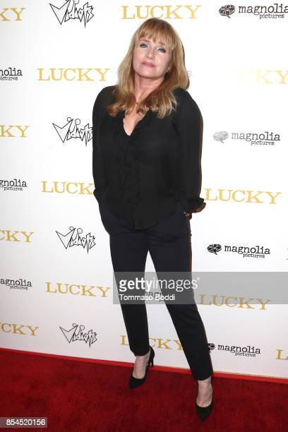 """Rebecca De Mornay attends the Premiere Of Magnolia Pictures' """"Lucky"""" at Linwood Dunn Theater on September 26, 2017 in Los Angeles, California."""