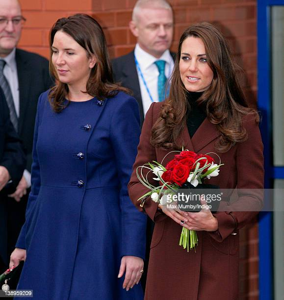 Rebecca Deacon accompanies Catherine, Duchess of Cambridge during a visit to Alder Hey Children's Hospital on February 14, 2012 in Liverpool, England.