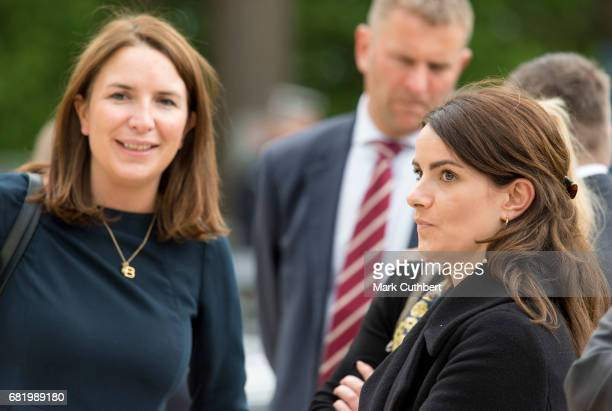 Rebecca Deacon and Sophie Agnew during a visit by Catherine Duchess of Cambridge to the Drai Eechelen Museum on a one day visit to Luxembourg on May...