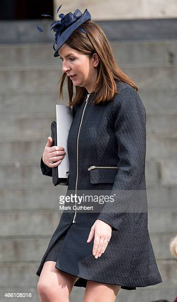 Rebecca Deacon during a Service of Commemoration for troops who were stationed in Afghanistan on March 13 2015 in London England