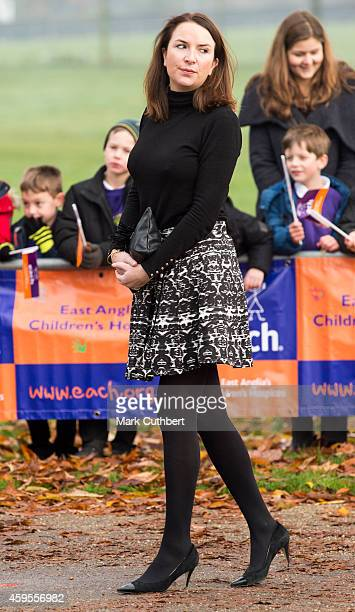 Rebecca Deacon during a visit by Catherine Duchess of Cambridge to the East Anglia's Hospice's appeal launch at Norfolk Showground on November 25...
