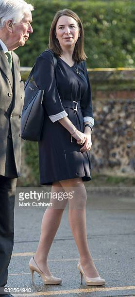 Rebecca Deacon during a visit by Catherine Duchess of Cambridge to EACH to get an update on The Nook Appeal on January 24 2017 in Quidenham Norfolk...