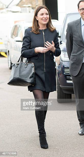 Rebecca Deacon during a visit by Prince William Duke of Cambridge and Catherine Duchess of Cambridge to The Stephen Lawrence Centre on March 27 2015...